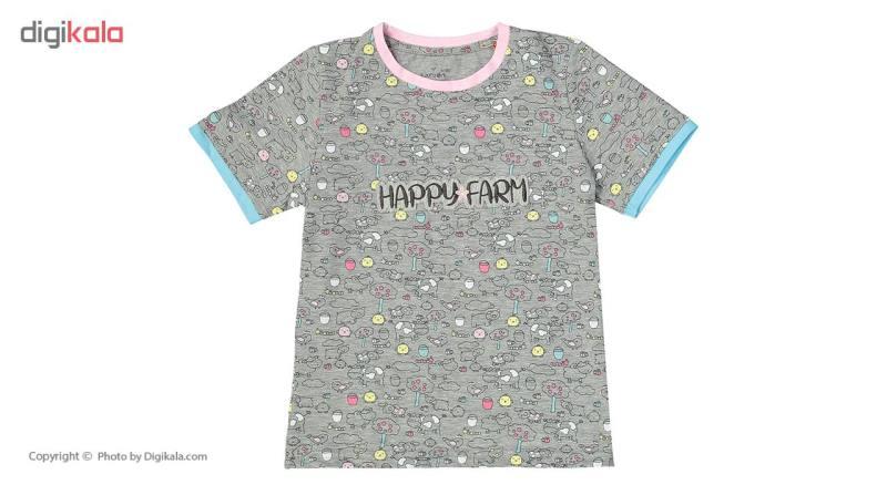 ست تی شرت و شلوار راحتی دخترانه ناربن مدل 1521130-90
