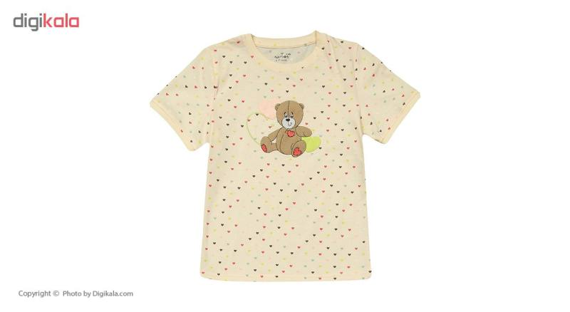 ست تی شرت و شلوار دخترانه ناربن مدل 1521124-07