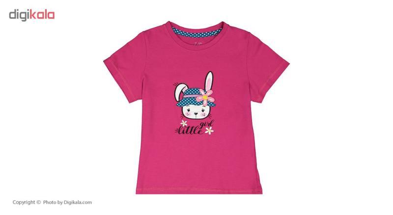 ست تی شرت و شلوار راحتی دخترانه ناربن مدل 1521164-66