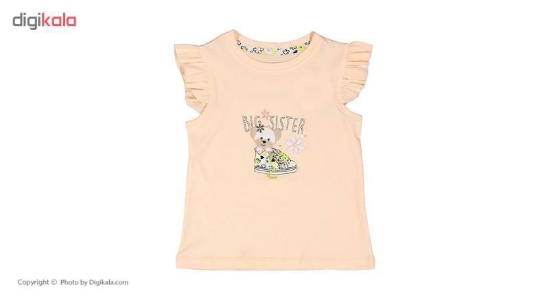 ست تی شرت و شلوار راحتی دخترانه ناربن مدل 1521165-80