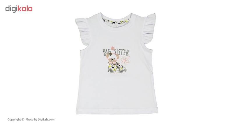ست تی شرت و شلوار راحتی دخترانه ناربن مدل 1521165-01