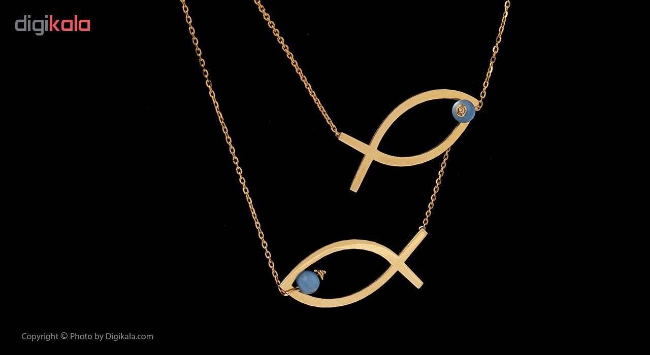 گردنبند طلا 18 عیار زنانه مایا ماهک مدل MM0899 -  - 2