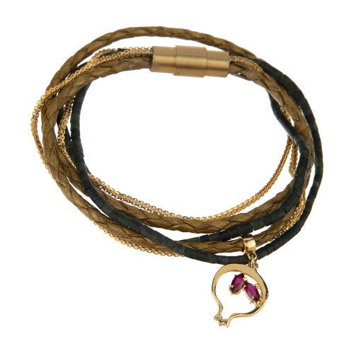 دستبند طلا 18 عیار زنانه تاج درسا مدل 274-1