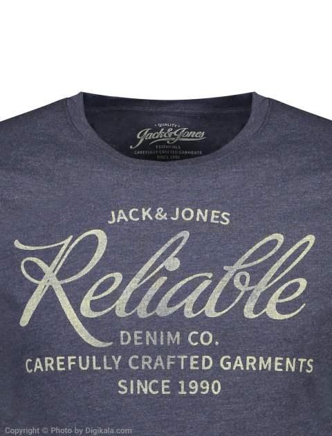 تی شرت مردانه جک اند جونز مدل 12136711-Navy -  - 3