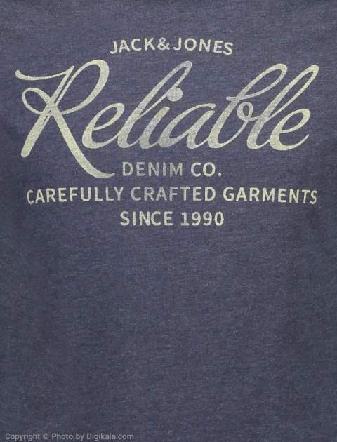 تی شرت مردانه جک اند جونز مدل 12136711-Navy -  - 4