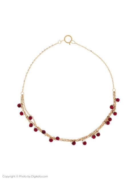 دستبند طلا 18 عیار دخترانه گرامی گالری مدل B604 -  - 1