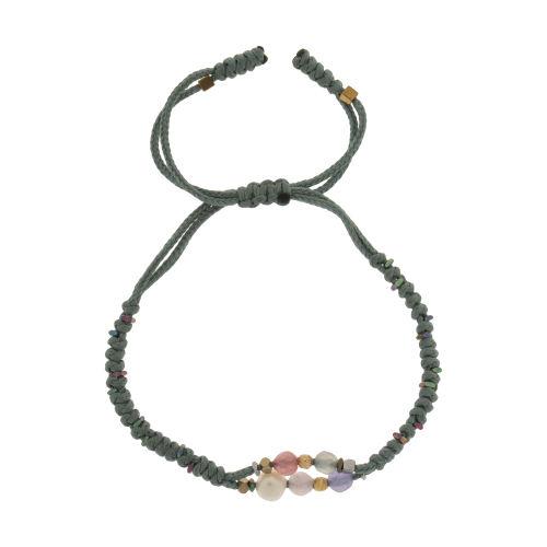 دستبند طلا 18 عیار دخترانه گرامی گالری مدل B657