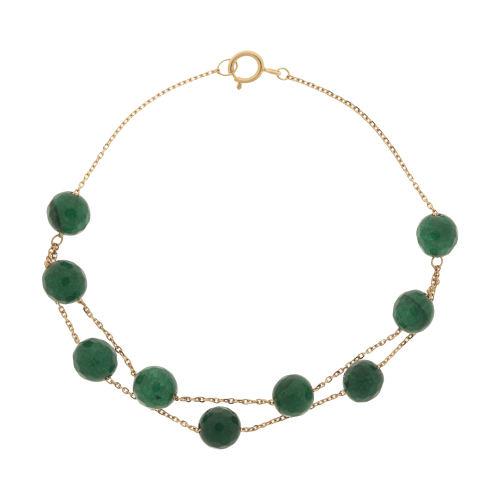 دستبند طلا 18 عیار دخترانه گرامی گالری مدل B602