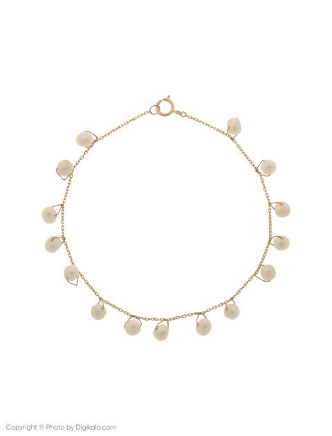 دستبند طلا 18 عیار دخترانه گرامی گالری مدل B605 -  - 1