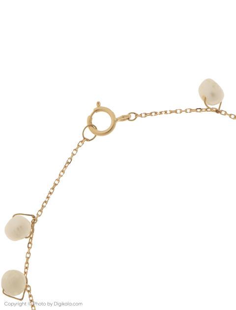 دستبند طلا 18 عیار دخترانه گرامی گالری مدل B605 -  - 3