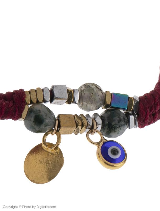دستبند طلا 18 عیار دخترانه گرامی گالری مدل B650