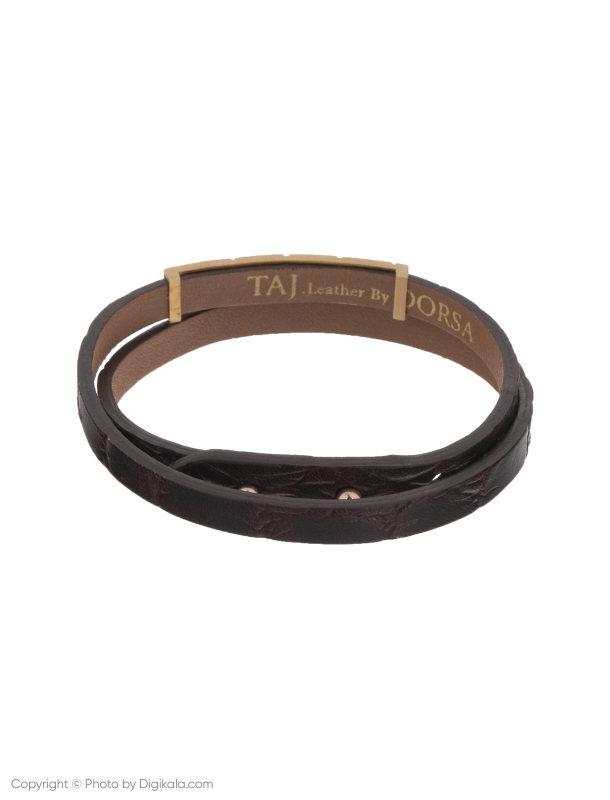 دستبند طلا 18 عیار مردانه تاج درسا مدل 3892