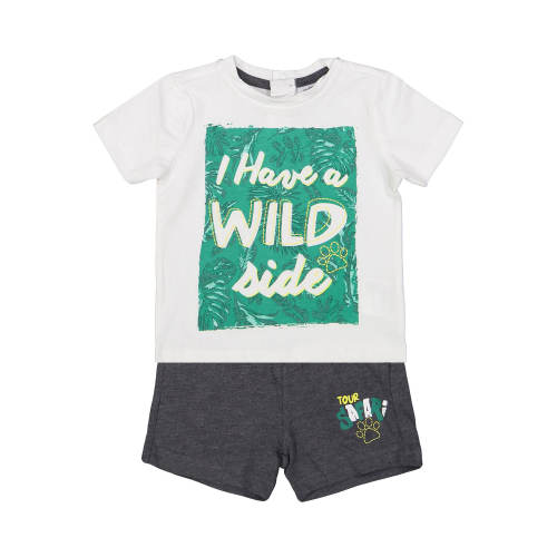 ست تی شرت و شلوارک نخی نوزادی پسرانه - بلوکیدز
